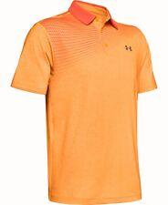Under Armour Mens Activewear Heather Orange Size XL Playoff Polo Shirt $65- 178