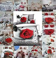 3D Duvet Cover Bedding Set With Bed Sheet Pillowcases Single Double King Size