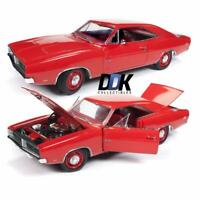 "AUTOWORLD AMM1174 1969 DODGE CHARGER R/T CHARGER RED ""CLASS OF '69"" 1/18 DIECAST"