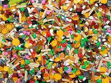 50 X LEGO LOT MINIFIGURE ACCESSORIES FOOD DISHES TEA POT APPLES
