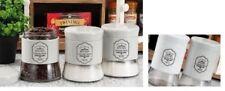 Ad Set Barattoli 3pezzi Vetro/metallo Bianco Casa cucina caffe Zucchero
