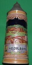 """VINTAGE GERMAN BEER STEIN """"HEIDELBERG"""" WESTERN GERMANY ORIGINAL GERZIT 5  7"""""""