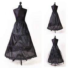 schwarz Reifrock Petticoat Unterrock Gr.32-58 S-XXXL mit 2 od. 3 Ringe Lafairy