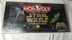 1997 Parker Bros Star Wars Monopoly Limited Collector's Edition FACTORY SEALED