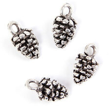 70pcs Charms Pine Cone Style Antique Silver Alloy Pendent Fit Jewelry Making L