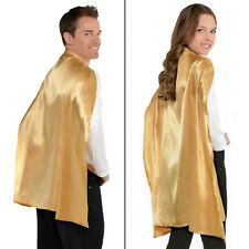 Amscan Superhero Cape Dress up Costume Party Accessory Gold Fabric 30.