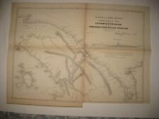 ANTIQUE 1854 ISTHMUS OF DARIEN PANAMA CANAL CENTRAL AMERICA DATED MAP SUPERB NR