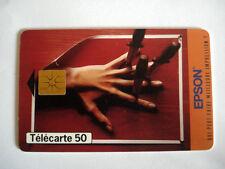 PHONECARD TELECARTE EPSON IMPRIMANTE FRANCE TELECOM