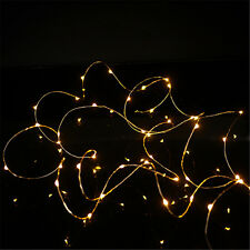 2M 20LED Micro Rice Wire Copper Fairy String Lights Party Warm White