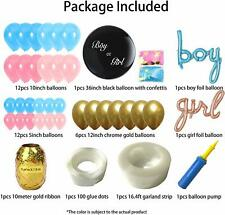 Gender Reveal Party Baby Shower Boy or Girl Balloon Supplies Decorations Box NEW