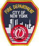 NEW YORK FIRE DEPARTMENT SHOULDER PATCH: Standard