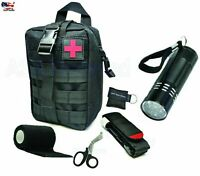 Emergency Outdoor Kit Tactical Medical Survival Tool Kit- CPR Flashlight Bag