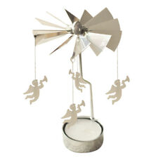 Spinning Rotary Metal Carousel Tea Light Candle Holder Stand Light Xmas Gif G1a7