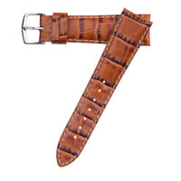 20mm Hadley-Roma MS834 Mens Tan Alligator-Grain Leather Watch Band Strap