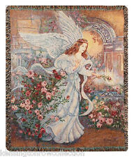 "THROWS - ANGEL OF LOVE TAPESTRY THROW - 50"" X 60"" THROW"