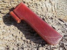 Handmade leather Bushcraft  Knife Sheath British Tan