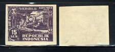1946-7 Indonesia  SC1L34 A11 15s dark purple Imperf Stamp MNH