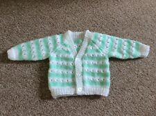 Hand Knitted Baby Cardigan - Size 0-3 months