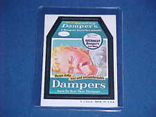 WACKY PACKAGES DAMPERS OVERNIGHT DIAPERS STICKER CARD