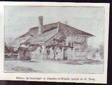 1918  --  MAISON DE BOULANGER  EN MEURTHE ET MOSELLE