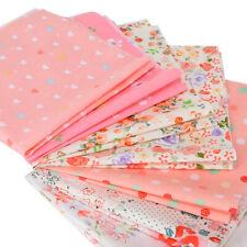 Series 7 pieces Pre-Cut Quarters Bundle Charm Cotton Quilt DIY Fabric Fat Craft