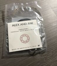 Alex and Ani JANUARY RING WRAP Sterling Silver New W/Tag Card & Pouch .