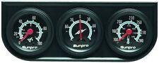 Sunpro 1 12 Mechanical Mini Triple Gauge Set Black Black Bezel New Cp7997