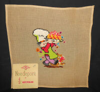 Reynolds Preworked FRENCH CHEF/BAKER 10M Penelope Madeira Needlepoint Canvas
