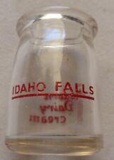 Vintage Idaho Falls Modern Dairy Cream Glass Advertising Creamer