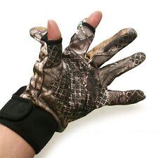 Outdoor Bionic Hunting Gloves Full Finger Anti-Slip Realtree Camo Gloves Summer