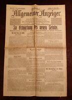 Erfurter Allgemeiner Indicador 21. Mayo 1915 Histórico Periódico 1. Weltkrieg