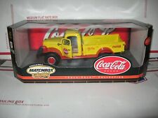 1 24 MATCHBOX 1946 DODGE POWER WAGON COCA-COLA TRUCK IN YELLOW AND RED #92619