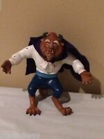 """Disney Beauty and the Beast Beast Action Figure Toy Rubber 5.5"""" Tall"""
