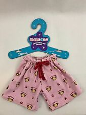BAB Build A Bear Pajama Bottoms and Slippers 3 Piece Set