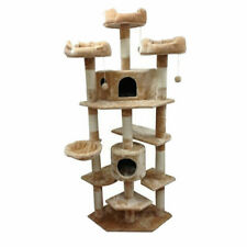 Kitty Mansions Denver 72 In. Cat Tree Tan