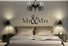 Mr. & Mrs. 3 vinyl wall decal