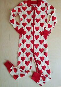 NWT HANNA ANDERSSON SWEET HEARTS ZIPPER SLEEPER PAJAMAS 90 3T $42