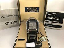 Seiko G757- 5000 James Bond Octopussy Alarm Chronograph Quartz LCD Vintage Watch