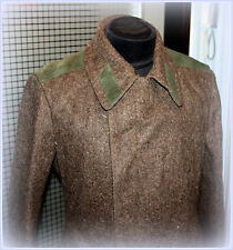 Vintage USSR Russian Military Surplus Uniform Overcoat Soldier Wool Coat 50-4 L