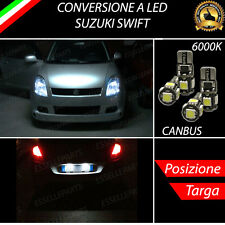 LUCI POSIZIONE A LED + LUCI TARGA A LED CANBUS SUZUKI SWIFT NO ERROR
