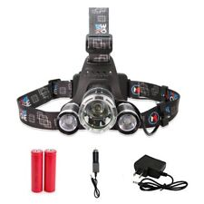 3 HEAD CREE XM-L T6 LED Headlamp Headlight, BY PROCAMP, 13000LM, 18650 BAT.