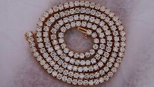 """Mens 33 Ct Diamond Necklace Chain 14k Solid Rose Gold 22"""" Buy Direct From Dealer"""