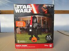 Free ship, Gemmy 8-ft x 5-ft Lighted Darth Vader Halloween Inflatable