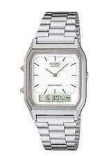 Casio Unisex Silver Strap Wristwatches