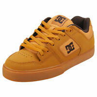 DC Shoes Pure Mens Light Brown Leather & Textile Skate Trainers