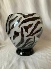"""Correia Limited Edition Etched Glass Vase 7"""" Nice!"""