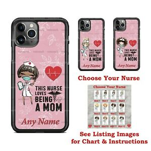 This NURSE Loves being a MOM Design Phone Case Cover for iPhone Samsung LG gift