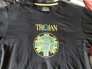 """Trojan Records Tshirt 3xl 46"""" Black"""