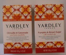 YARDLEY PUMPKIN & BROWN SUGAR Bar Soap 4.25 oz EACH LOT OF 2 WITH ESSENTIAL OILS
