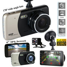 GPS Dual Lens Camera 1080P HD Car DVR Dash Cam Video Recorder G-Sensor Night Vis
